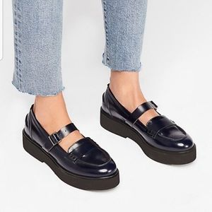 NWOB Free People Pearl Street chunky Penny loafer
